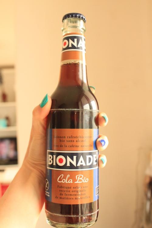 Et le cola bio que j'ai rapporter à la maison. ça par contre je trouve pas ça trés bon.