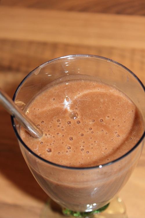 smoothie banane - chocolat- vanille