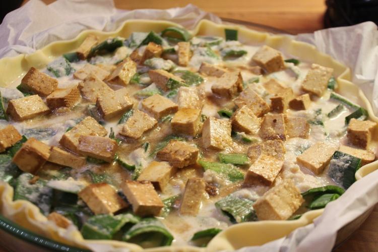 quiche tofu poireau (vegan)