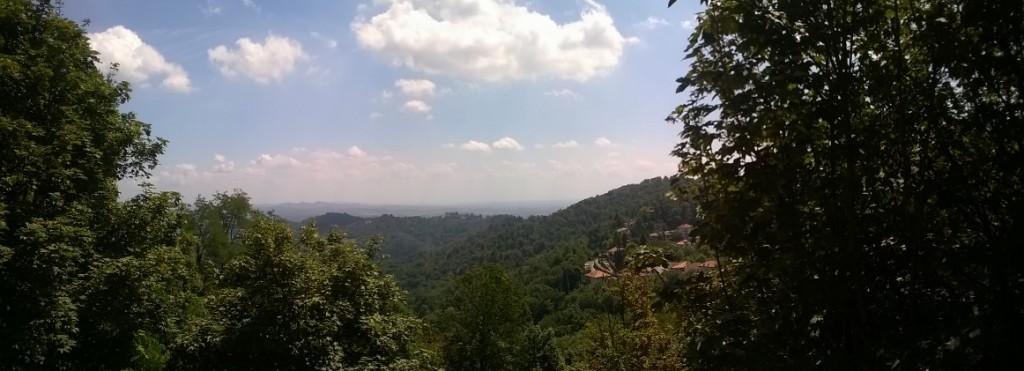 La vue depuis Superga- Turin