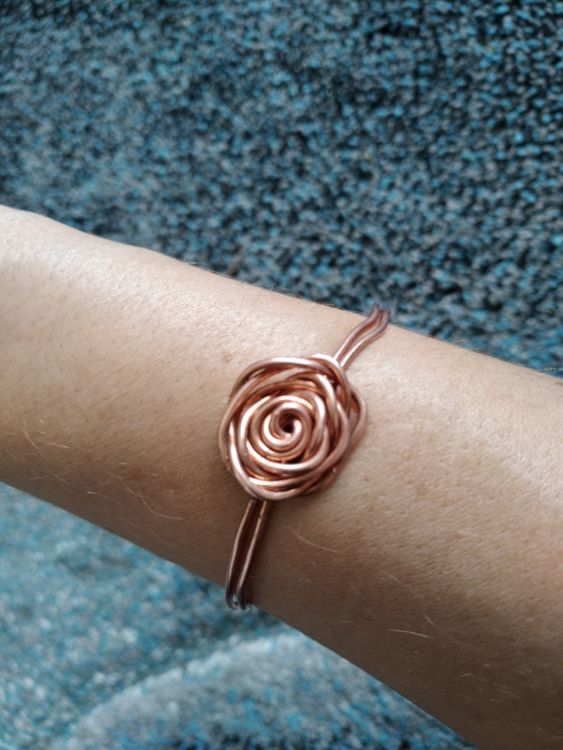 Bracelet en récup fil de cuivre